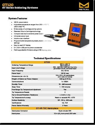 GT Series Solder System Data Sheet